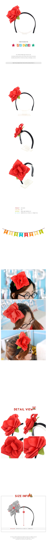 장미 머리띠 - 파티해, 3,500원, 파티의상/잡화, 머리띠/머리장식/가발